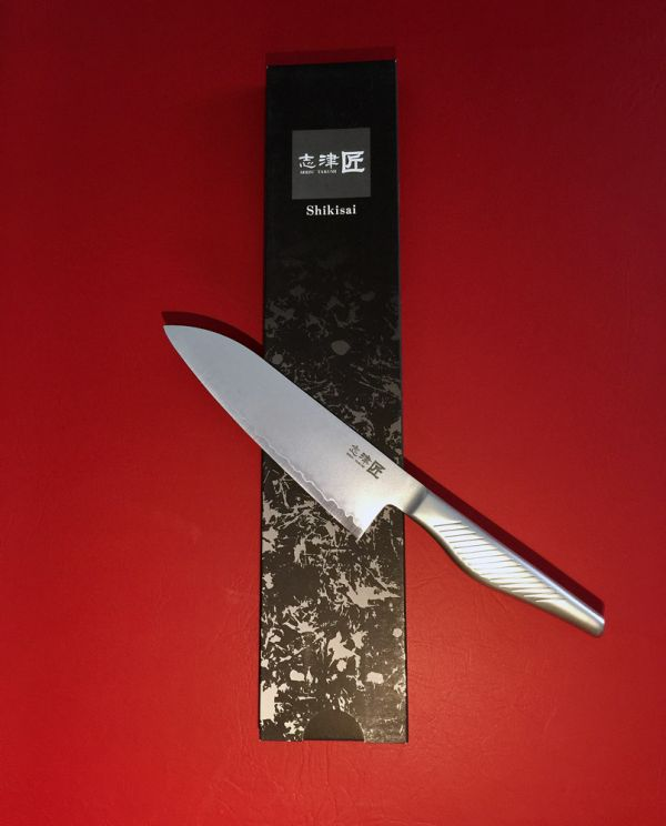 Shikisai KYO Santoku Knife 180mm, With Ogg Sharpening edge