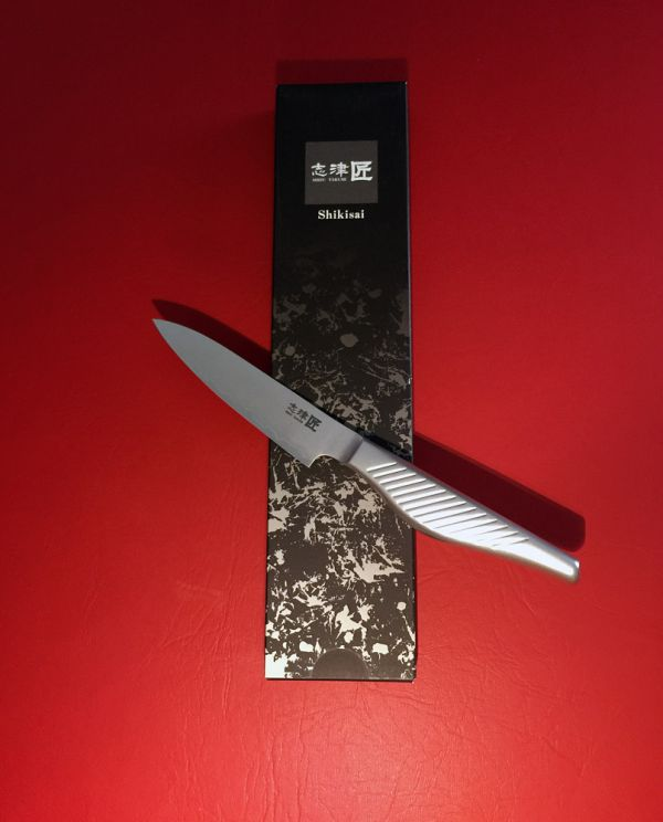 Shikisai KYO Petty Knife 110mm, With ogg Sharpening edge