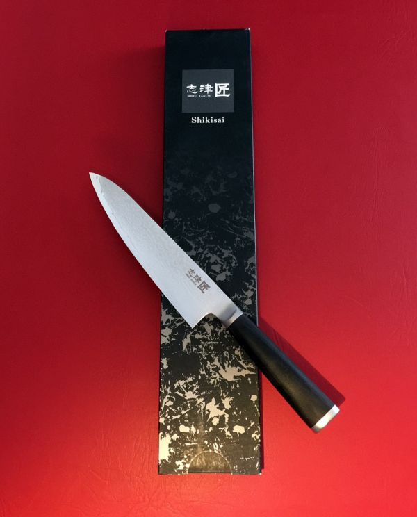 Shikisai Miyako Damascus Japanese Chef Knife 180mm, With Ogg Sharpening edge