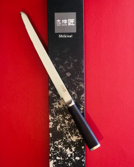 Shikisai Miyako Japanese Damascus blade 230mm Filleting/Carving Knife