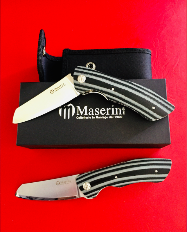 Maserin AM-2 Folding Pocket Knife Modified And With Ogg Sharpening Edge