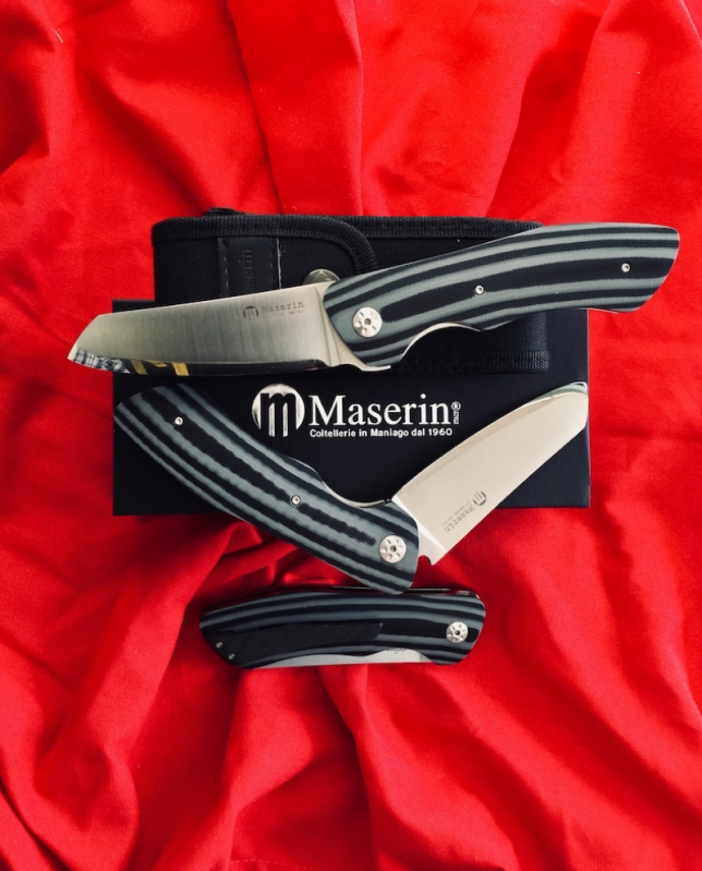 Maserin AM-2 Folding Pocket Knife 378 G10N Modified And With Ogg Sharpening Edge
