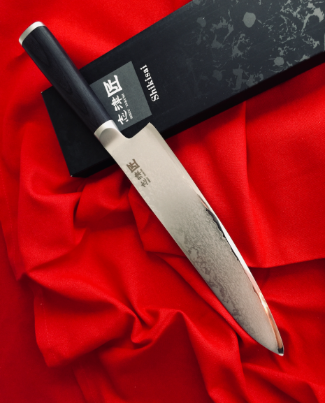 Shikisai Miyako Damascus Japanese Chef Knife 210mm, With Ogg Sharpening edge