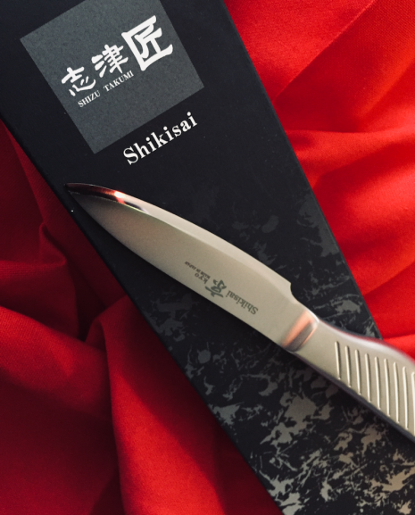 Shikisai KYO Paring Knife 80mm, With Ogg Sharpening edge