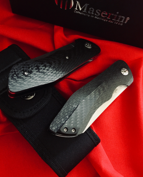 Maserin AM-2 Folding Pocket Knife 378CN, Modified And With Ogg Sharpening Edge